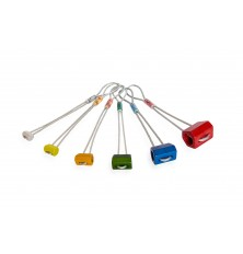 Set stoppers HEX anodizados